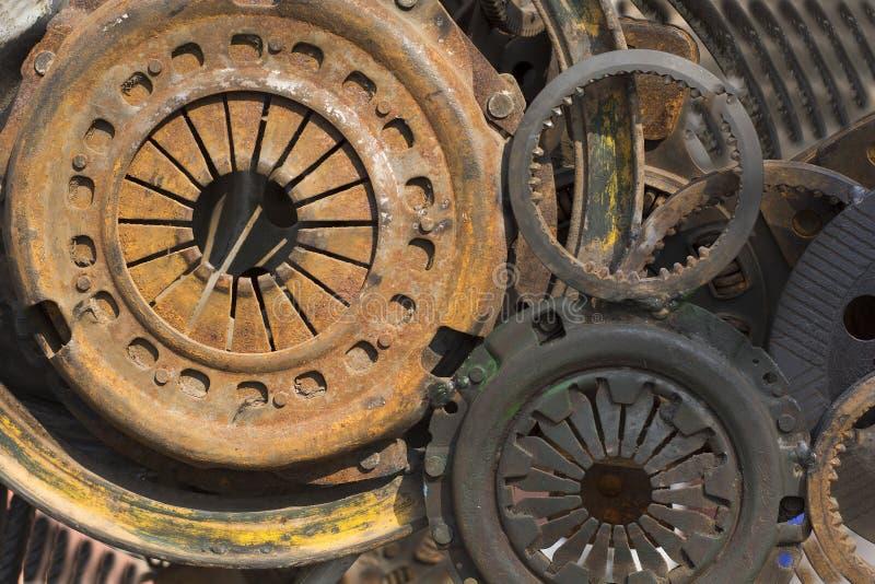 Peças da máquina de tempos modernos foto de stock