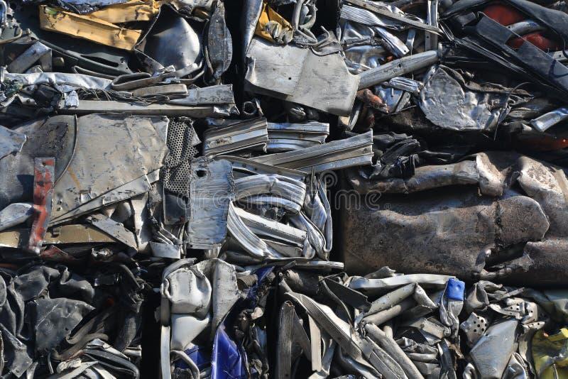 Peças da sucata, destruída e esmagado imagens de stock
