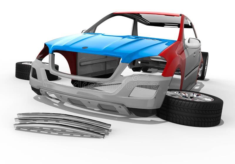 Peças de SUV ilustração royalty free