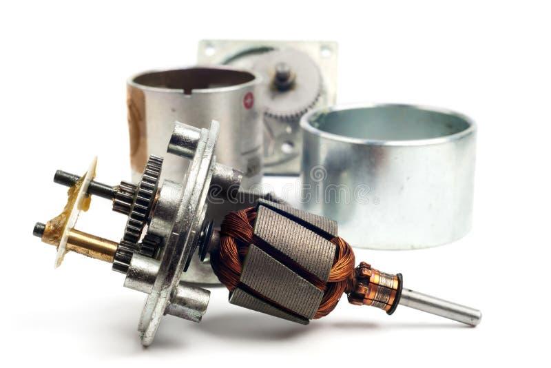 Peças do motor elétrico imagens de stock