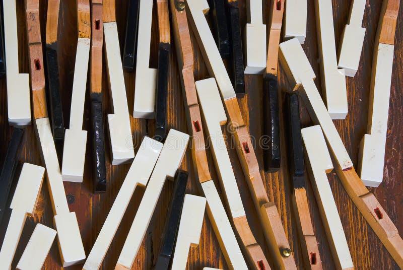 Peças do piano fotos de stock