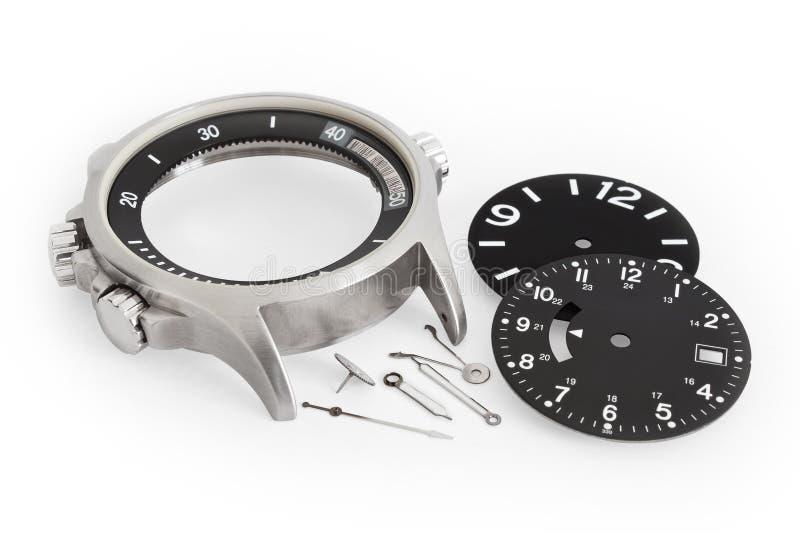 Peças do relógio fotografia de stock