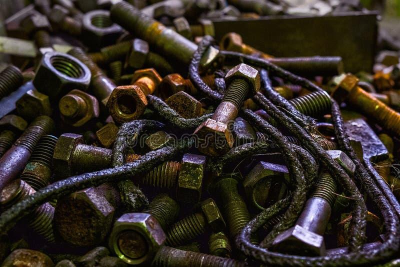 Peças e oxidação de metal imagem de stock