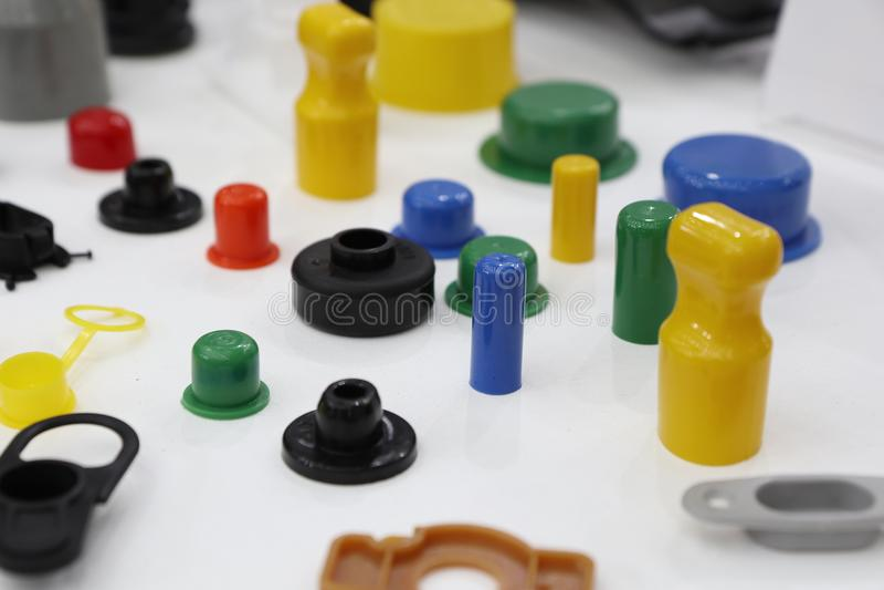 peças pastic coloridas imagem de stock