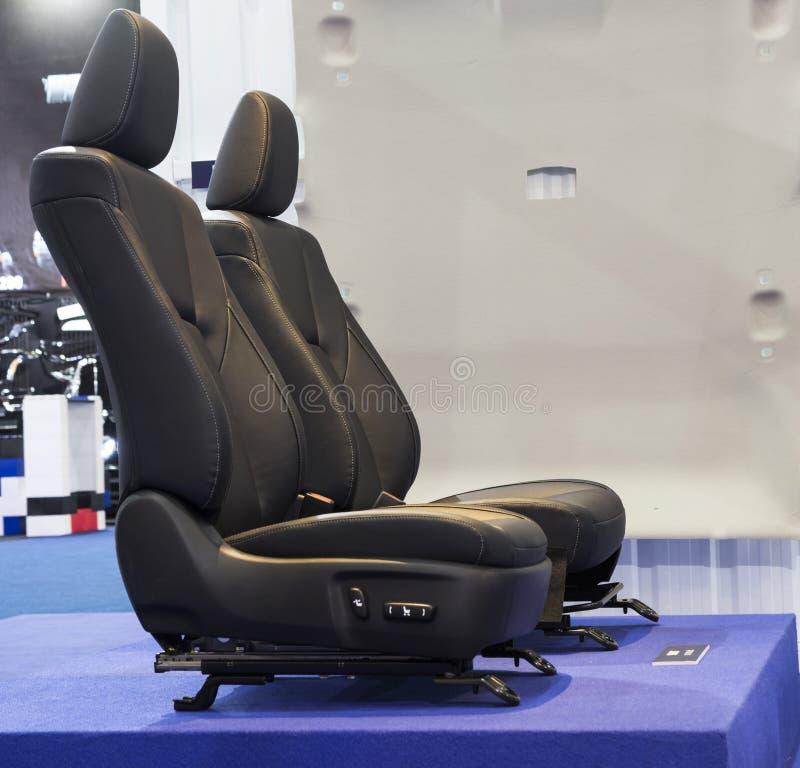 Peças pretas do assento de Front Car imagem de stock royalty free