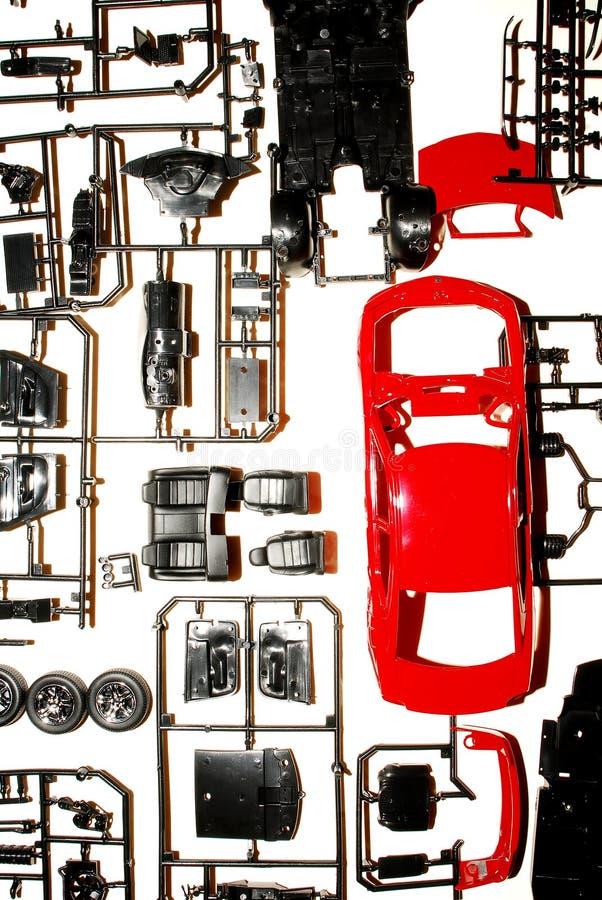 Peças a um carro modelo fotografia de stock
