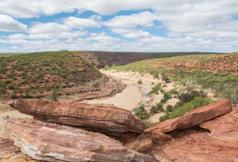 Peñascos rojos en el parque nacional de Kalbarri imagen de archivo libre de regalías