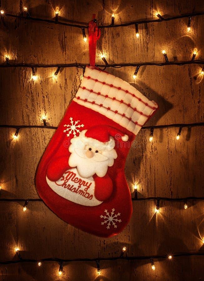 Peúga vermelha do Natal fotos de stock