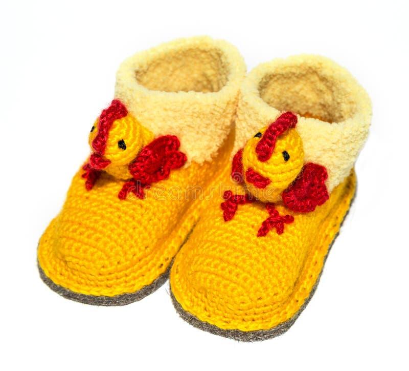 Peúgas de lã do bebê fotos de stock