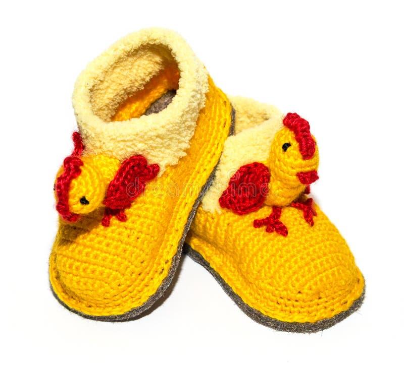 Peúgas de lã do bebê imagens de stock