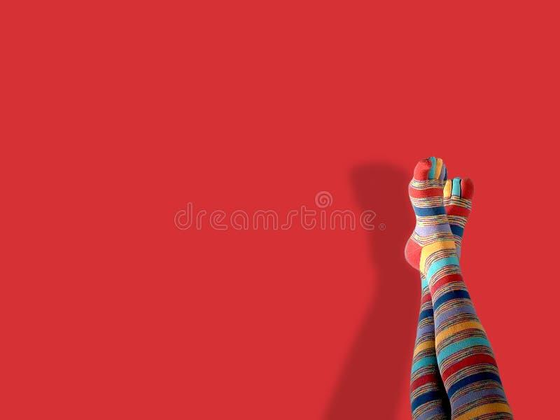Peúgas do dedo do pé foto de stock royalty free