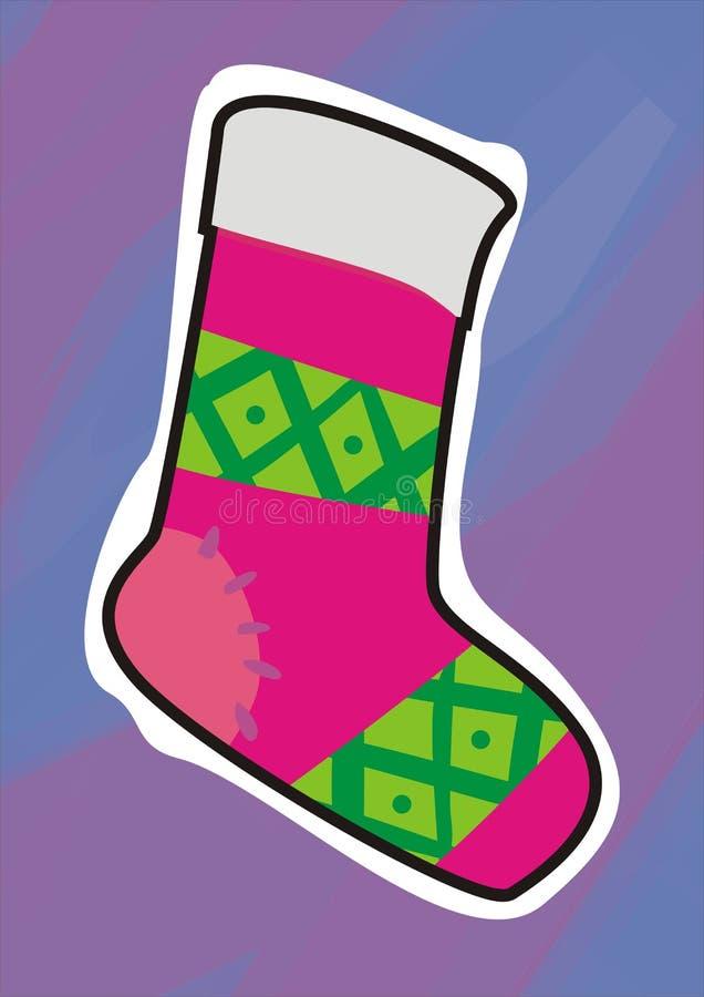 Peúgas do Natal ilustração stock
