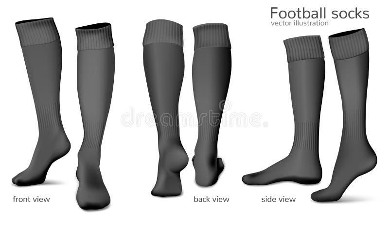 Peúgas do vetor do futebol ilustração stock