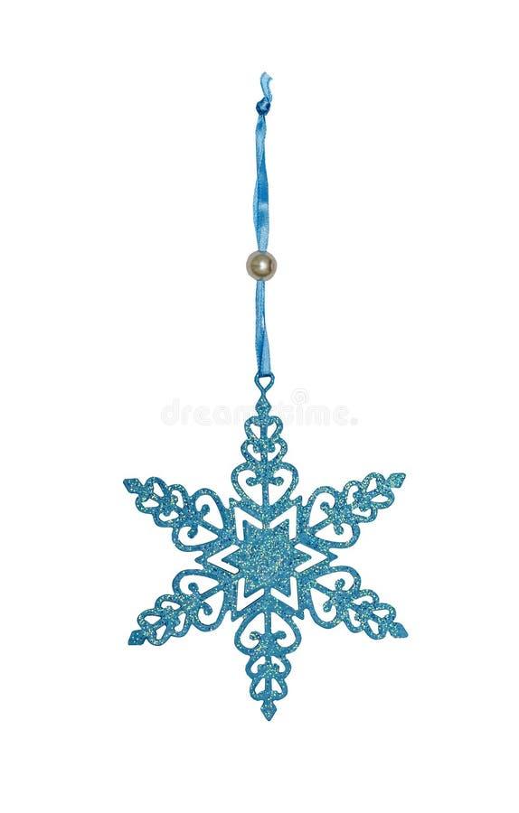 Pełen wdzięku boże narodzenie ornament, trudny genialny płatek śniegu zdjęcia royalty free