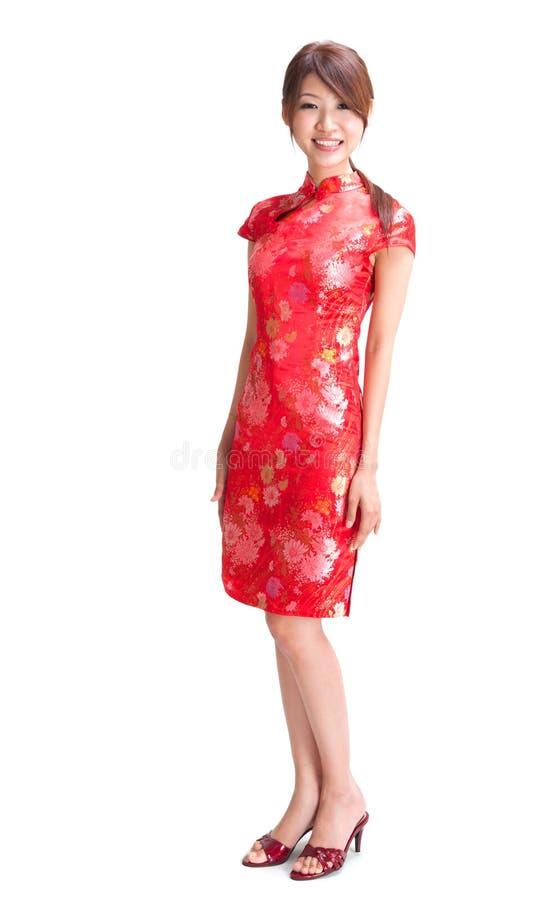 Pełna ciało chińczyka dziewczyna fotografia stock