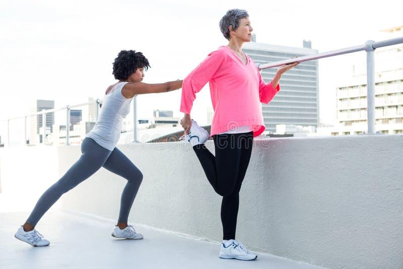 Pełna długość dysponowany kobiet ćwiczyć zdjęcie royalty free