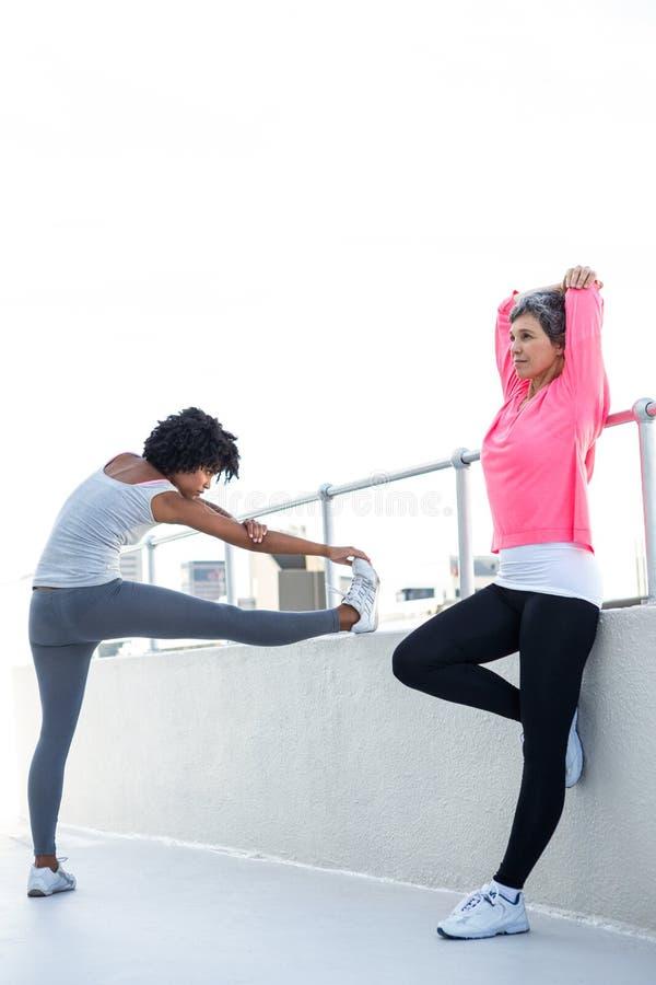 Pełna długość kobiet ćwiczyć zdjęcie stock