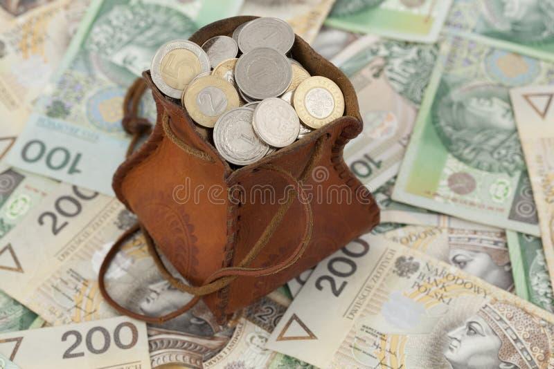 Monety i banknot obrazy royalty free