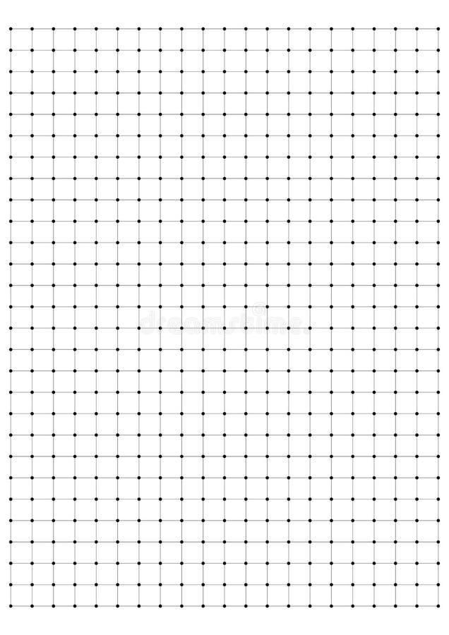 pełnej strony kropki papieru centymetrowy wektor ilustracji