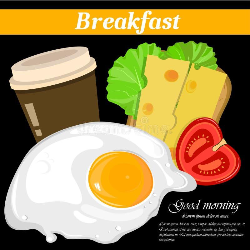 Pełni anglicy i amerykański śniadanie ilustracji