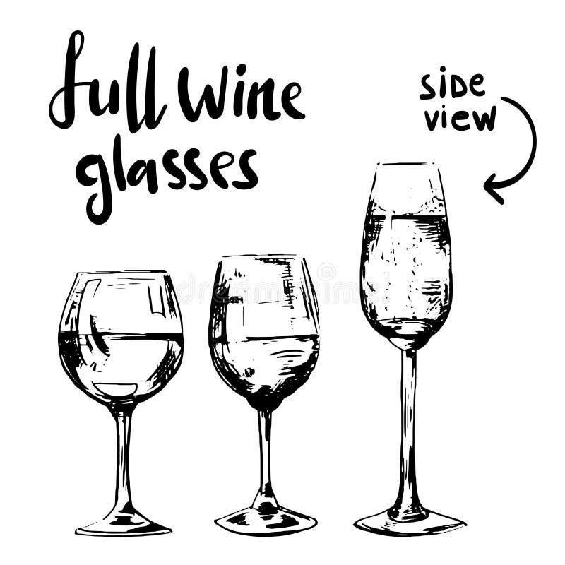 Pełni różni win szkła obrazy royalty free