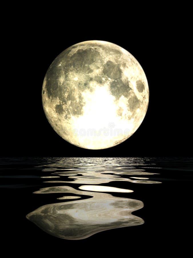 pełnia księżyca ilustracji