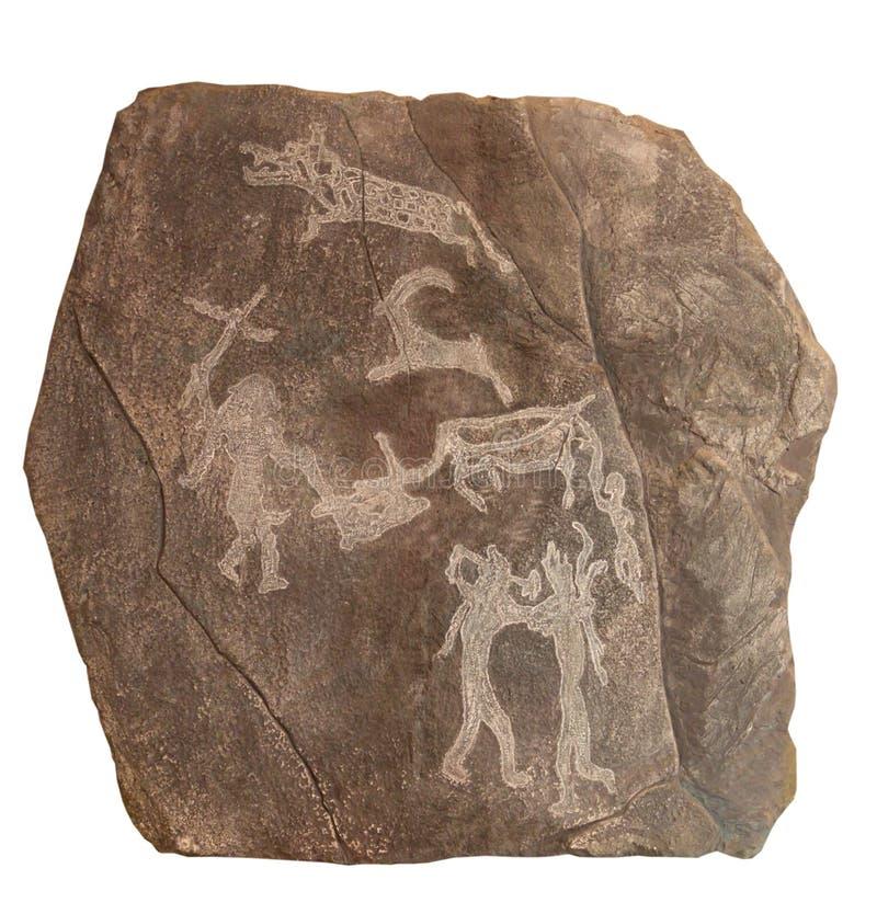 pełnoletni brązowy petroglyphe zdjęcia royalty free