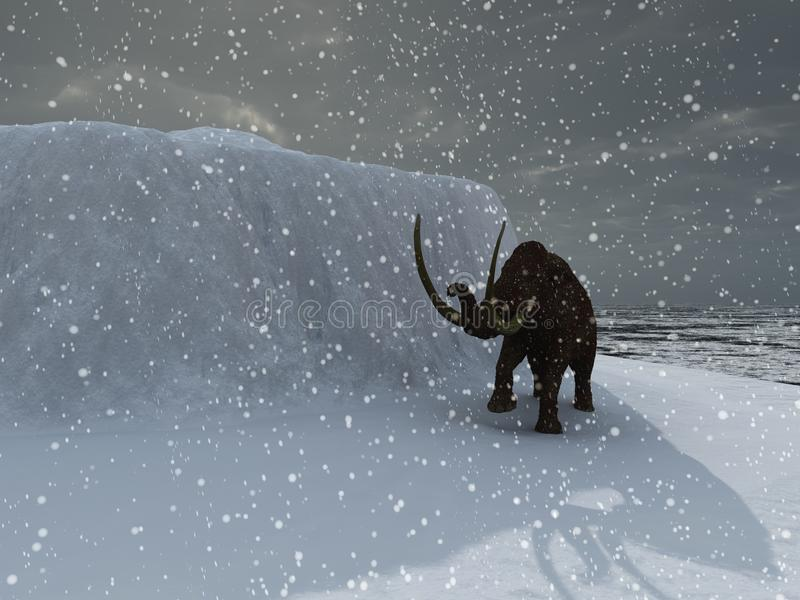 pełnoletni lodowy mamut royalty ilustracja