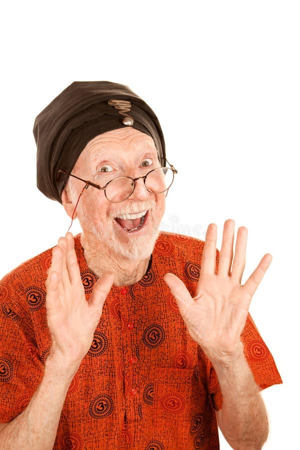 pełnoletniego szczęśliwego mężczyzna nowy starszy turban obraz stock