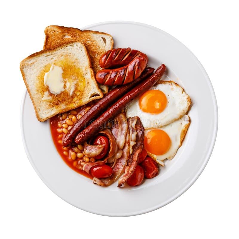 Pełny Angielski śniadanie odizolowywa fotografia stock