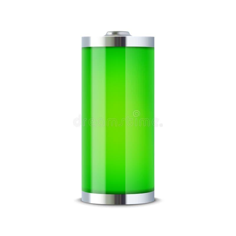 Pełny bateryjny wskaźnik ilustracji