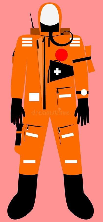 Pełny ciała przetrwania kostium ilustracja wektor