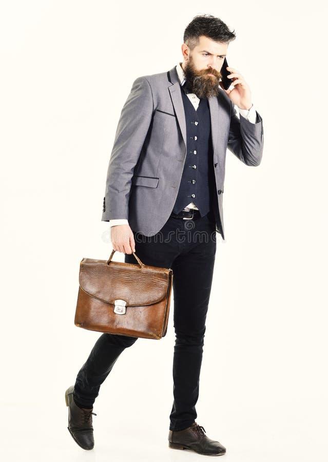 Pełny długość obrazek biznesowego mężczyzna odprowadzenie naprzód zdjęcia royalty free
