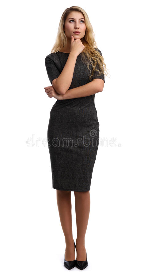 Pełny długość portret piękny bizneswoman fotografia stock