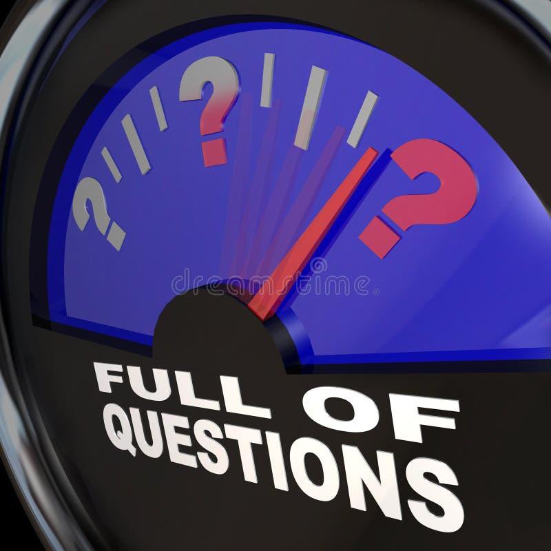 Pełny pytanie Paliwowy wymiernik Pyta dla odpowiedzi royalty ilustracja