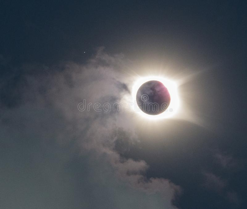 Pełny Słoneczny zaćmienie 2017 obrazy stock