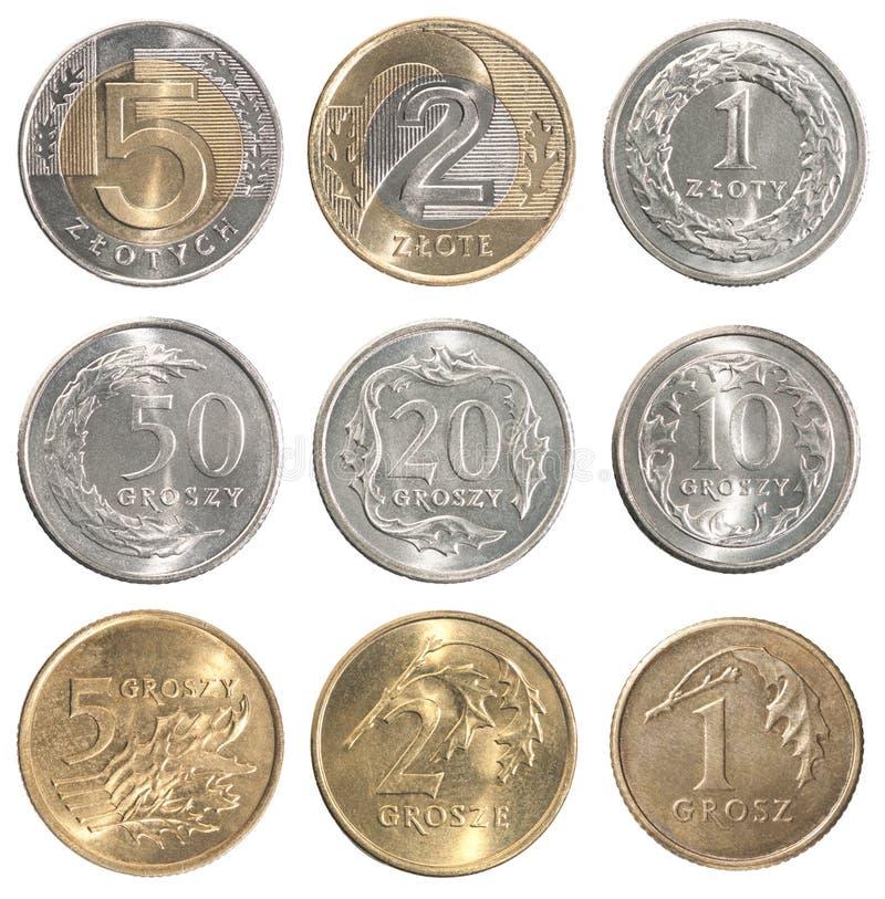 Pełny set Polska moneta fotografia royalty free