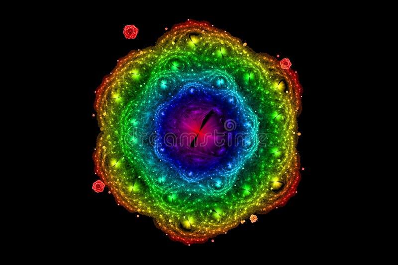 Pełny spektralny barwiony wzrastał, fractal ilustracja royalty ilustracja