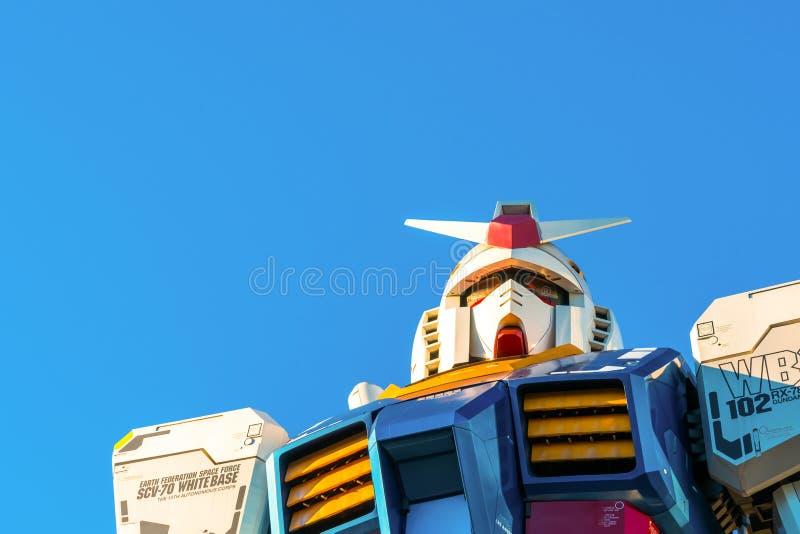 Pełnych rozmiarów Gundam występy Na zewnątrz DiverCity Tokio placu, ilustracji