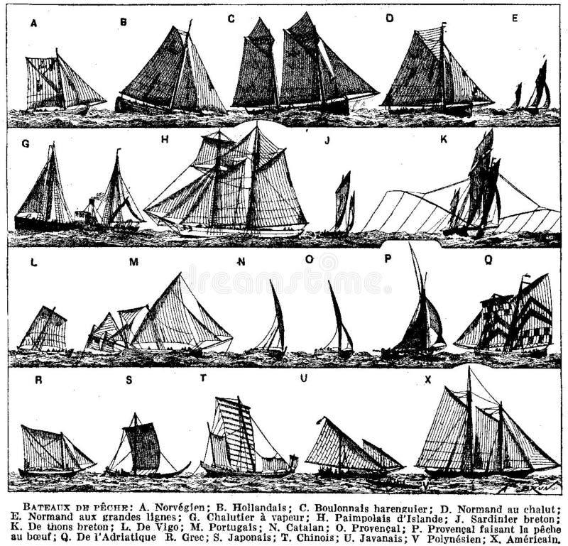 pe? che-bateaux de immagine stock libera da diritti