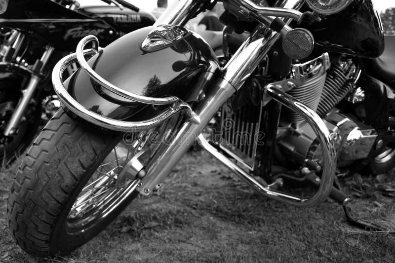 Pe?as da motocicleta, do metal e do cromo foto de stock