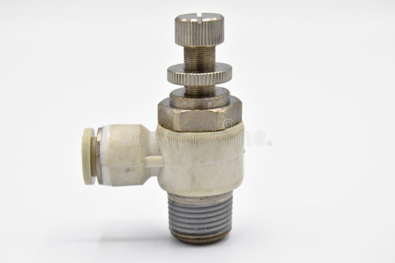 Pe?as, ferramentas e equipamento industriais do metal Válvula de ar pneumática imagem de stock
