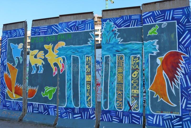 Pe?a do muro de Berlim fotos de stock