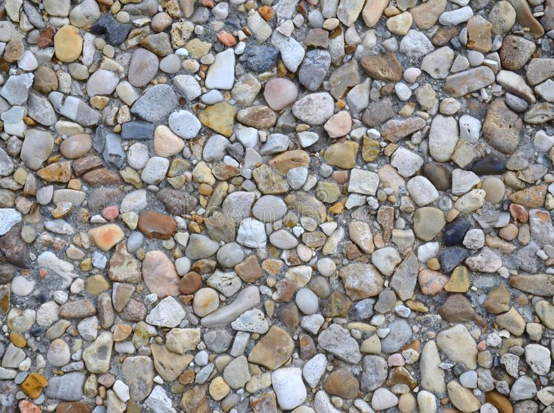 Pea gravel. Blend pea gravel in cement royalty free stock images