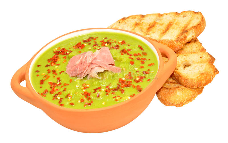Pea And Ham Soup royalty free stock photography