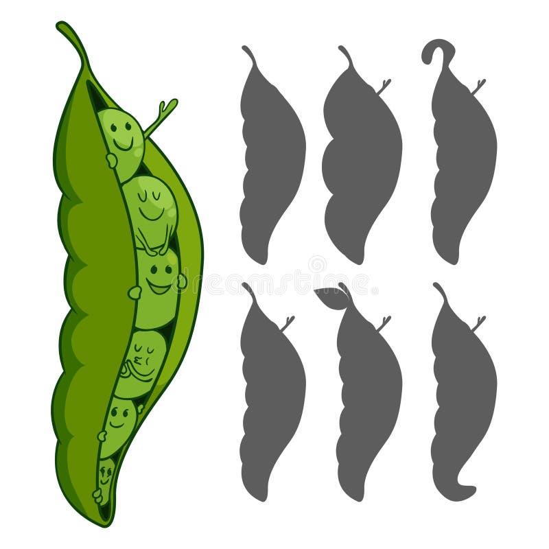 Pea Pod illustration de vecteur