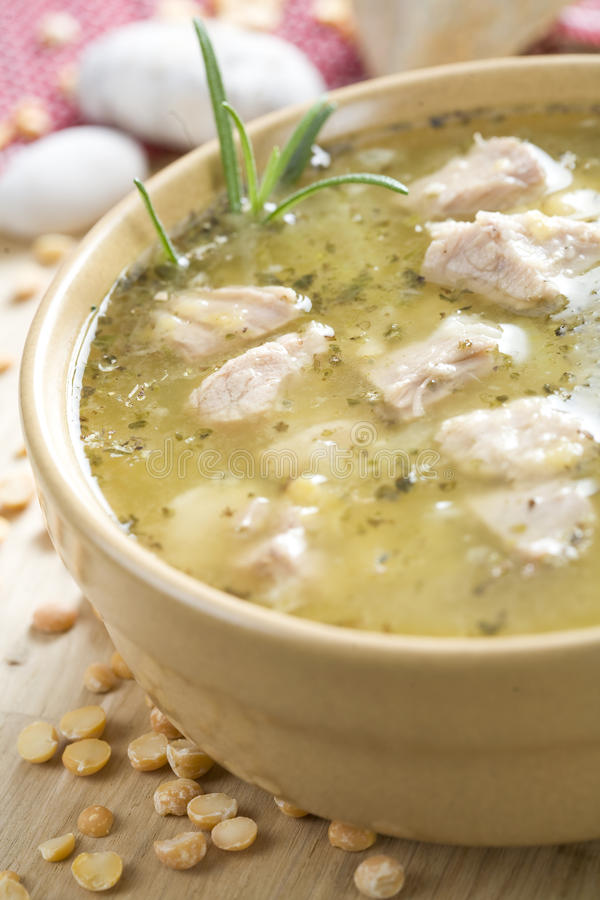 Pea soup royalty free stock image