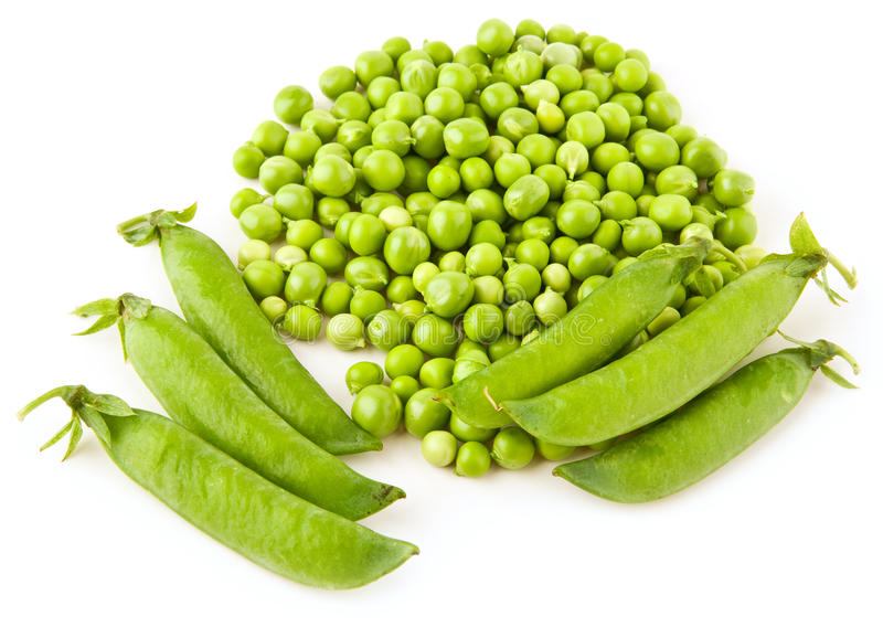 Pea. On a white background royalty free stock photography