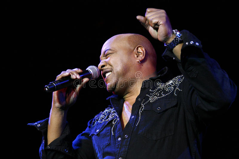 Peabo Bryson. Performing in concert stock photo