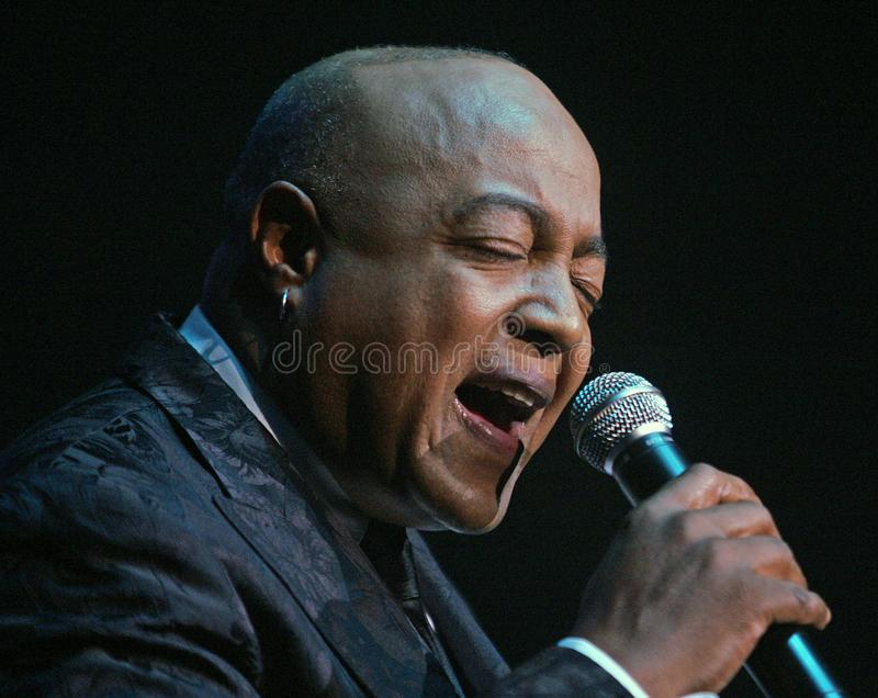 Peabo Bryson performs in Concert. Peabo Bryson performs at the Seminole Hard Rock Hotel and Casino in Hollywood, Florida on November 14, 2010 stock photo